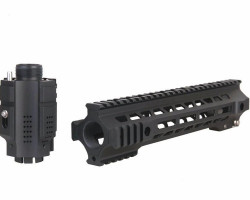Metal mlok rail with muzzle - Used airsoft equipment