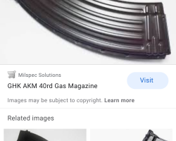 Ghk akm gas magazine wanted - Used airsoft equipment