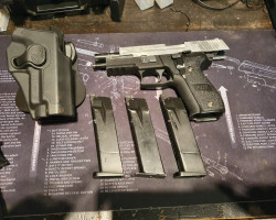 WE p226 with holster and 3 gas - Used airsoft equipment