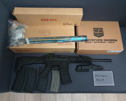GHK G5+5 mags+carbine kit+bull - Used airsoft equipment