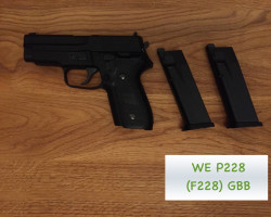 WE P228 (F228) Sig Pistol with - Used airsoft equipment