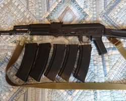 AK74MN + 5x Magazines + Extras - Used airsoft equipment